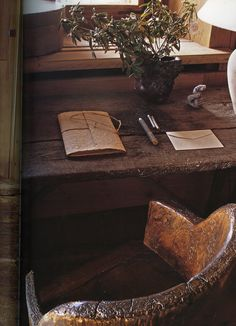 Ink:  #Writing #desk and #chair.