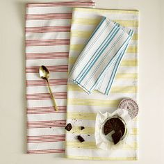 Yarn-Dyed Napkin Set #WestElm