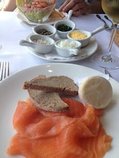 Bluebird at Chelsea; smoked salmon and rye bread