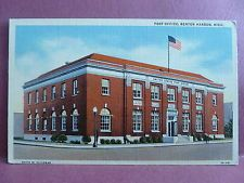 Old Postcard MI Benton Harbor Post Office