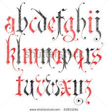 Resultado de imagem para gothic alphabet