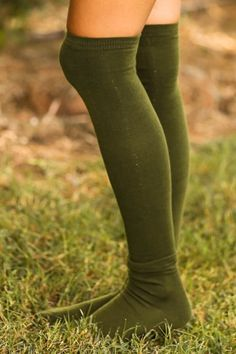Settle In Boot Socks-Olive