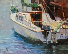 """in plein air: """"Just Us"""" California, coastal, plein air,oil painting by Robin Weiss"""