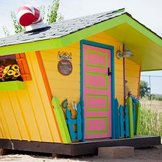 Children dream of having a private spot to throw tea parties, host club meetings, and hide out from grown-ups. Check out these amazing kid-size creations in Fort Collins, Colorado -- all built from reclaimed materials in support of charities.