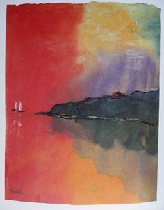 Emil Nolde was a German painter and printmaker. He was one of the first Expressionists, a member of Die Brücke, and is considered to be one of the great oil painting and watercolour painters of the 20th century