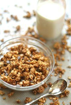 . vanilla almond butter protein granola .