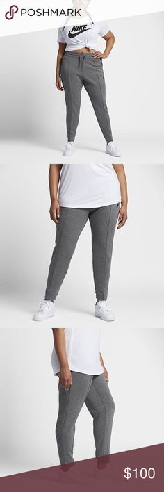 Nike sportswear tech fleece pants NWT Nike sportswear tech fleece pants. Super comfy and perfect for those chilly nights! Make an offer! Nike Pants Ankle & Cropped