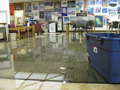 Images of the recent flooding and cleanup efforts at KU's Murphy Art & Architecture Library