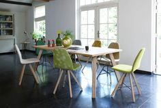 Koko chairs - square wood - Dining chairs - Dining room