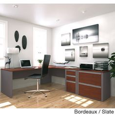 Bestar Connexion L-shaped Workstation with Lateral File - Overstock™ Shopping - The Best Prices on Bestar Office Suites