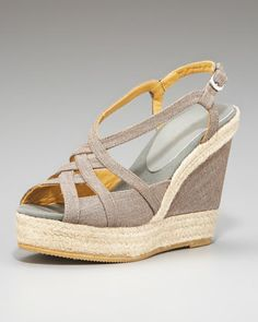 Cutout Wedge Espadrille by Bettye Muller at Neiman Marcus.