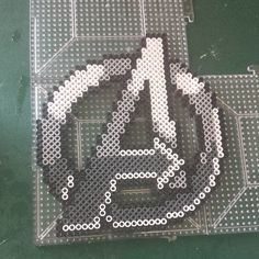 Avengers logo perler beads by the_nerdy_girl_crafter