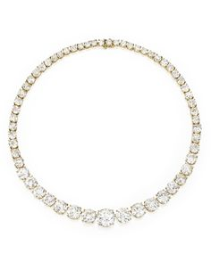 FROM THE ESTATE OF MICHELINE MUSELLI LERNER Gold and Diamond Rivière Necklace, Van Cleef & Arpels