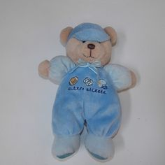 Carter's Just One Year Blue Bear Little Athlete Lovey Lovie Rattle Football Baby #JustOneYearCarters