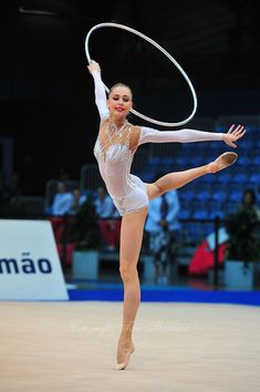 Viktoria Shynkarenko of Ukraine performs at 2011 World Cup at Portimao, Portugal on April 29, 2011.  . Most beautiful creation  of leotards on her here - Goddess of beauty on a carpet :)
