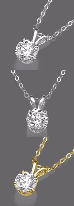 Diamond 164331: 0.50 Ct D/Si1 Round Cut Diamond Enhanced Pendant 14K White Gold -> BUY IT NOW ONLY: $800.55 on eBay!