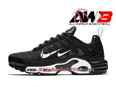 fae5957643f8c6 Chaussures Officiel Basket 2019 Pas Cher Pour Homme Nike Air Max Plus  Premium Noir Blanc 815994