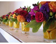Hermosos centros de mesa en Flora Amor