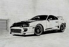 1994 Toyota Supra (Front) -  Wall Art Sticker
