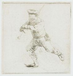 Конькобежец (1639) (61 х 59 мм) (офорт). Rembrandt Harmensz van Rijn (1606-1669)