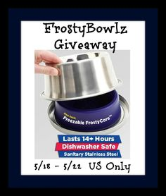 Keep your pet's water cold this summer and enter to win a FrostyBowlz! http://chant3llo.com/frostybowlz-review-and-giveaway/