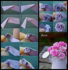 Fleur en papier ou en feutrine