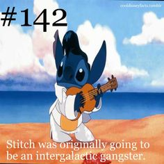 Stitch was originally going to be an intergalactic gangster.
