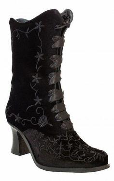 black velvet *granny* booties <3
