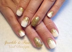 Entity Gel Polish - Spotlight with gold sparkle fades - Done by Christine Ingalls of Sparkle and Fade Nail Design https://www.facebook.com/SparkleAndFadeNailDesign