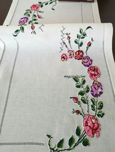 Discover thousands of images about myçeyizcim Cross Stitch Rose, Cross Stitch Embroidery, Hand Embroidery, Stitch Crochet, Baby Knitting Patterns, Cross Stitch Designs, Needlework, Diy And Crafts, Doilies
