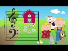 The Barnyard Friend characters represent the landmark notes on the grand staff. Visit http://pianoanne.blogspot.ca/p/barnyard-friends.html for more free piano teaching resources by Anne Crosby.