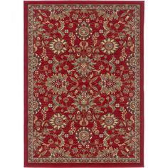 @Overstock.com - Lagoon 104590 Transitional Red Area Rug (7'6 x 9'10') - Add beauty and color to your decor with this red area rug. Featuring a floral design that's sure to draw attention, this rug is made of polypropylene, so it will last for many years. It has gold, tan, black, and green tones that make it easy to match.  http://www.overstock.com/Home-Garden/Lagoon-104590-Transitional-Red-Area-Rug-76-x-910/7847396/product.html?CID=214117 $158.94
