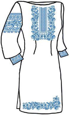 Заготовка для вишивки жіночої сукні (СЖ 32)