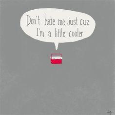 Don't hate me cuz I'm a little cooler