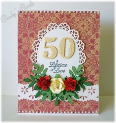 50th Wedding Anniversary by frenziedstamper - Cards and Paper Crafts at Splitcoaststampers