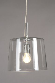 £ A very trendy pendant lamp in chrome with a transparent glass shade. Shine Your Light, Light Up, Light Architecture, Transparent, Modern Classic, Pendant Lamp, Glass Shades, Light Fixtures, Home Accessories