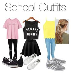 """""""Untitled #9"""" by emmaaboland on Polyvore featuring Boohoo, MANGO, Vans, Topshop, adidas Originals and Kitsch"""