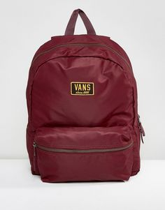 Get this Vans's backpack now! Click for more details. Worldwide shipping. Vans Boom Boom Backpack In Burgundy - Red: Backpack by Vans, Smooth fabric outer, Contrast lining, Grab handle, Twin shoulder straps, Vans logo, Zip closure, External pocket, Interior slip pocket, Machine wash, 100% Nylon, H: 42cm/17 W: 30cm/12 D:12cm/5. Famed for its iconic skate shoes, Vans was born in Sixties California and has since garnered a cult following that includes skateboarders, sports stars and style…