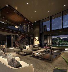 Dream House Interior, Luxury Homes Dream Houses, Dream Home Design, Modern House Design, Home Interior Design, Modern Mansion Interior, Design Homes, Contemporary Interior, Hipster Home Decor
