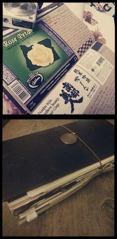 My Midori Notebook Today - flower press/travel log/drink tasting log :)