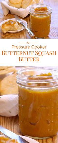 Butternut squash butter is a delightful smooth and creamy spread for your biscuits, toast, muffins, and so much more. Fresh ingredients make this pressure cooker Butternut Squash Butter recipe naturally delicious, nutritious and tasty! Jam Recipes, Canning Recipes, Baby Food Recipes, Canning Tips, Jelly Recipes, Recipies, Vegan Recipes, Power Pressure Cooker, Pressure Cooker Recipes