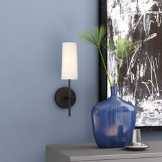 George Oliver Fredericks Wallchiere Finish: B Entryway Lighting, Wall Sconce Lighting, Wall Sconces, Brighten Room, Swing Arm Wall Lamps, Dimmable Light Bulbs, Fabric Shades, Vanity Set, Drum Shade