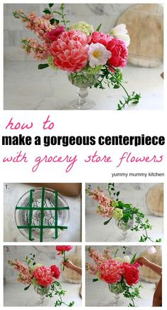 how to make a beautiful floral arrangement with grocery store flowers