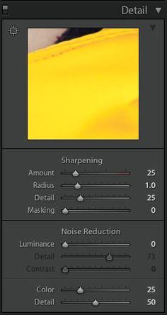 Lightroom sharpening tutorial
