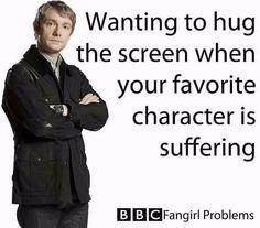 Querer abrazar la pantalla cuando tu personaje favorito sufre. - Te hablo a ti, Dean Winchester.