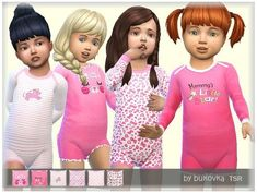 Sims 4 Toddler Clothes, Sims 4 Cc Kids Clothing, Sims 4 Mods Clothes, Toddler Girl Outfits, Kids Outfits, Toddler Boys, Toddler Fashion, Girl Fashion, Sims 4 Game Mods