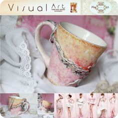 Mug Art, Peach Flowers, Tea Cups, Mint, Tableware, Shop, Dinnerware, Dishes, Place Settings