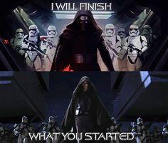 Star Wars Kylo Ren and Anakin Skywalker