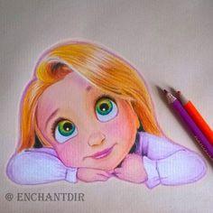 art, colored pencils, disney, drawing, princess, rapunzel