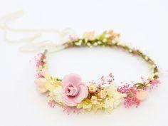 ♥ Kwiatowy wianek na głowę ♥ Romantic Look ♥ - LolaWhite - Kwiaty do włosów